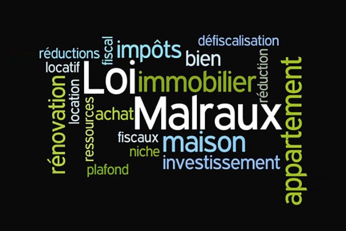 Réduction d'impôts dite « loi Malraux » récemment étendue et aménagée